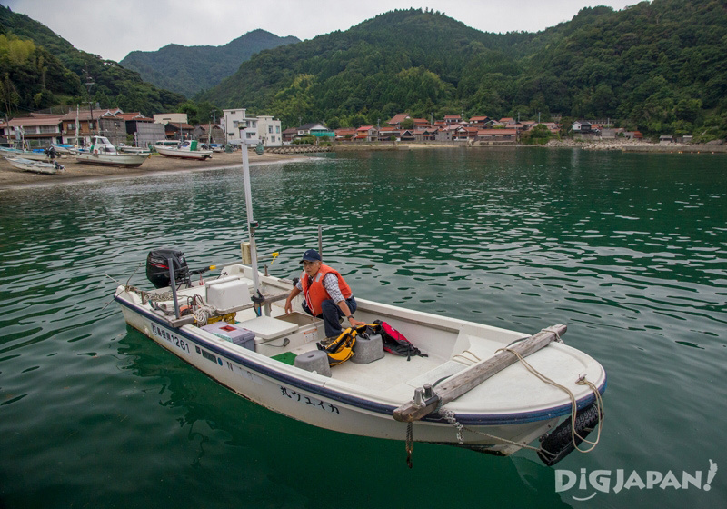 Tour on a fisherman's boat in Sagiura, Shimane Prefecture
