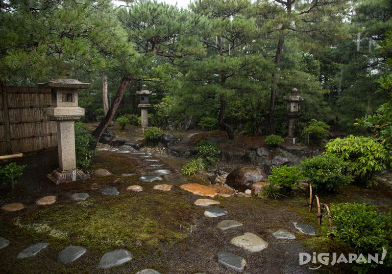Japanese garden at the Izumo Cultural Tradition Hall