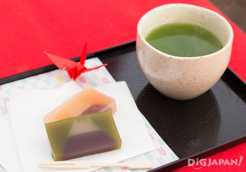 Matcha with Mt. Fuji bean jelly