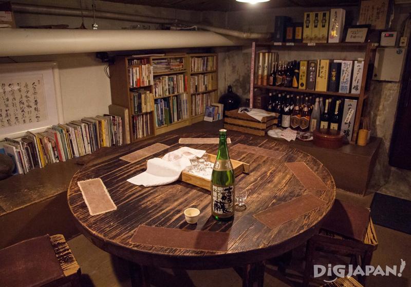 Sake cellar at Shimada Shoten, Osaka