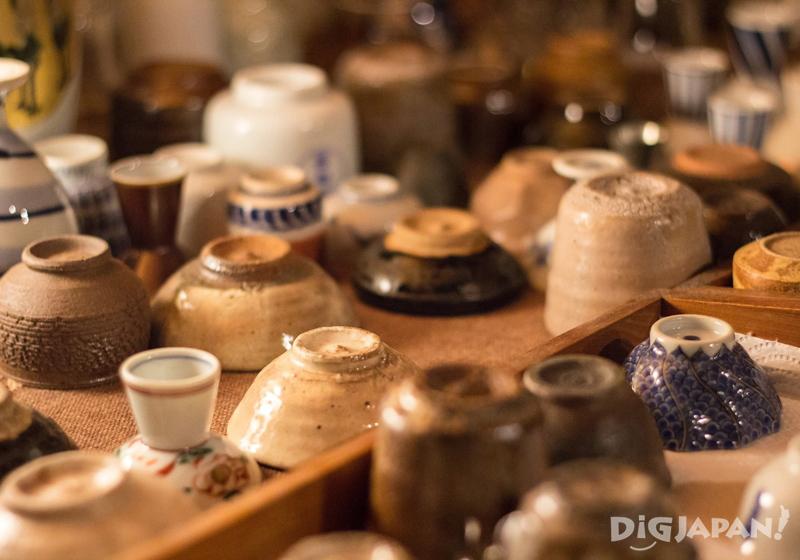 Sake cups at  Shimada Shoten, Osaka