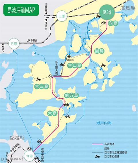 島波海道MAP