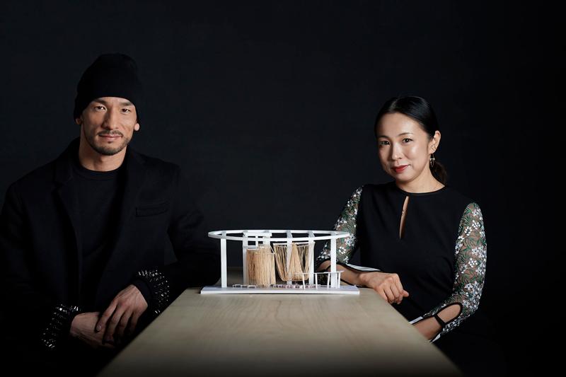 Hidetoshi Nakata with Yuko Nagayama