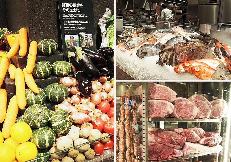鮮魚、肉類、蔬菜等食材立刻映入眼簾