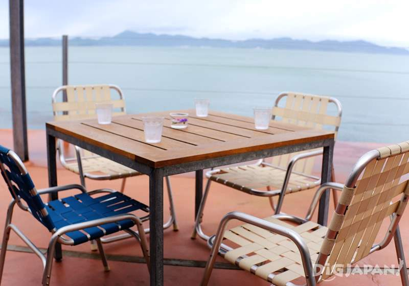 The Umi no Restaurant in Teshima has a wonderful view of the Seto Island Sea from their open air terrace.