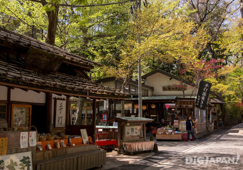 Some picturesque soba restaurants inside the temple grounds, Chofu
