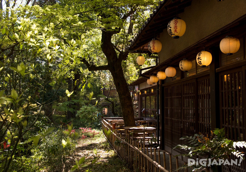 Soba restaurant immersed in nature, Chofu, Tokyo