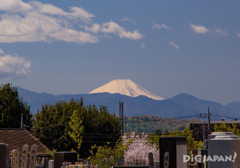 View of Mt. Fuji from Chofu, Tokyo