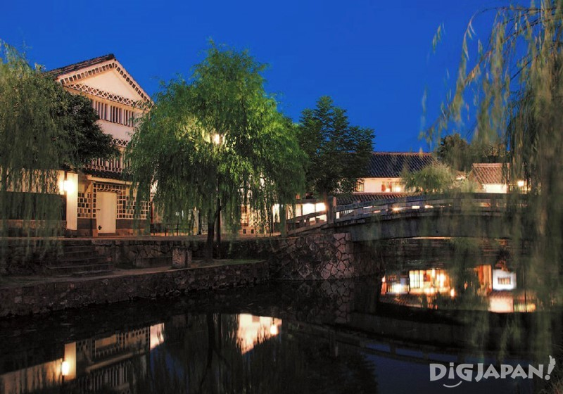 Kurashiki Bikan Historical Quarter night view