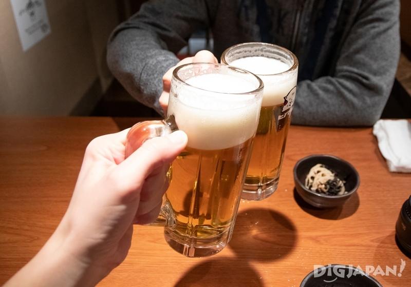 Beer at Yurakucho Gado-Shita