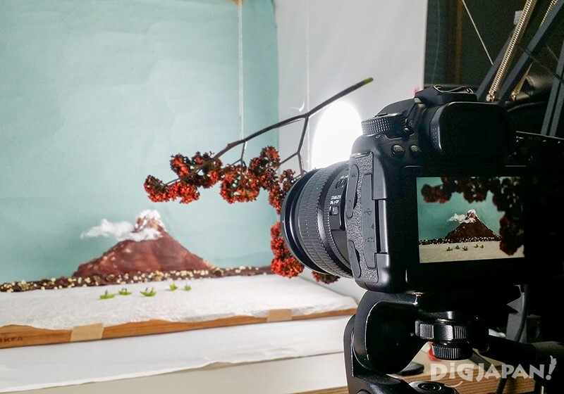 Recreating a view of Mt. Fuji in miniature: taking the shot
