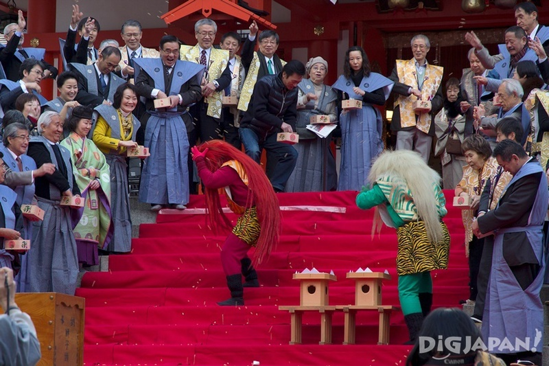 Setsubun celebration mamemaki