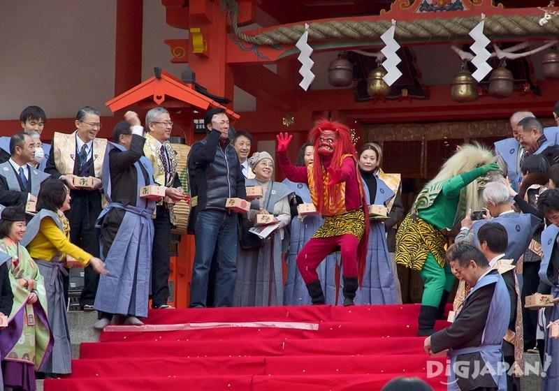 Mamemaki celebrations with Oni