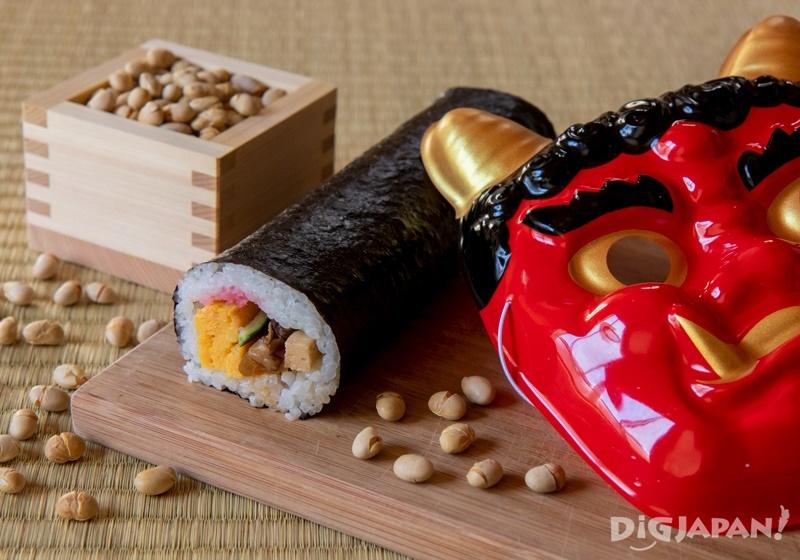 Setsubun soybeans and mask