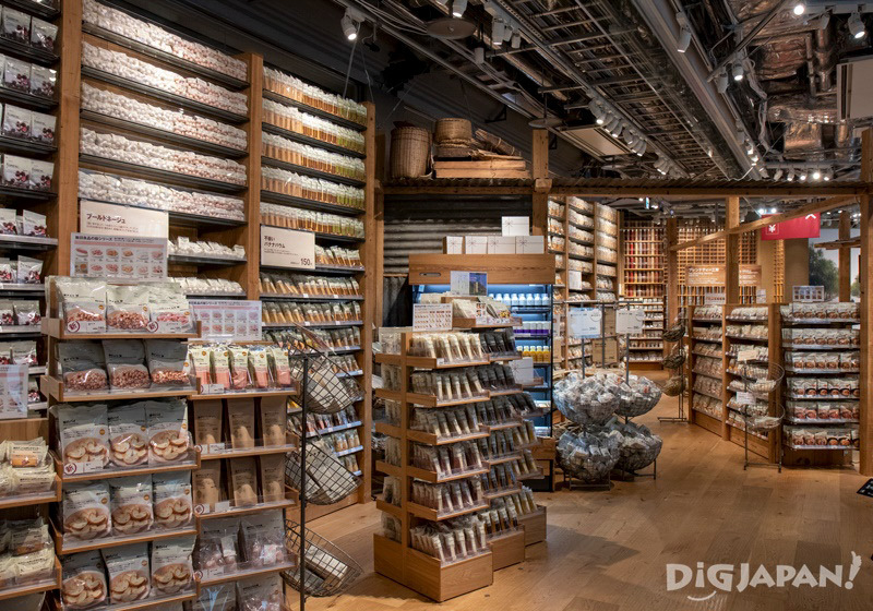 Food and drink section at Muji