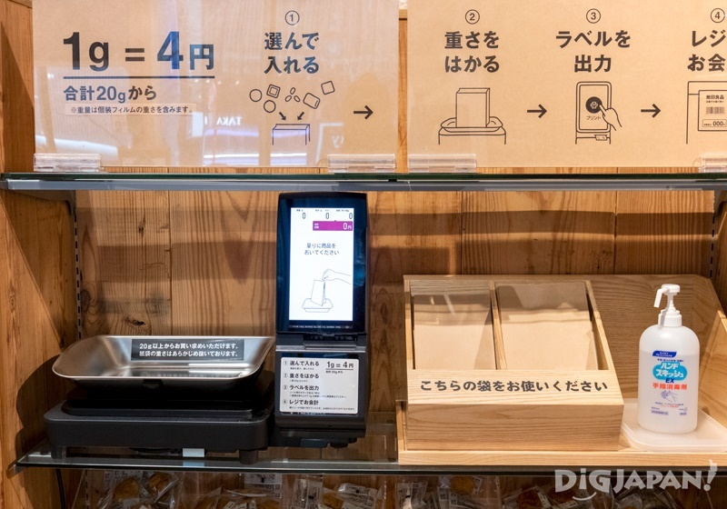 """Muji """"Sweets by Weight"""" Service"""