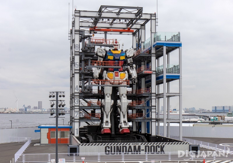 View of Gundam from the 2nd floor