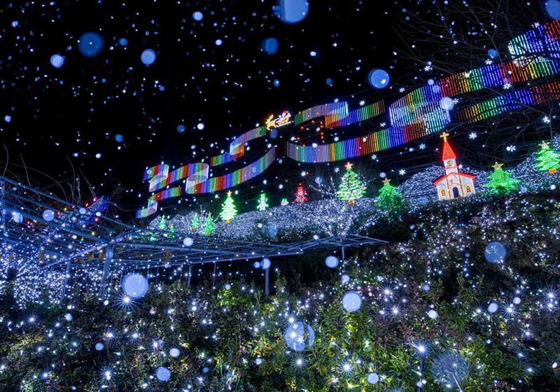 迎接聖誕的明朗歡快的氣氛