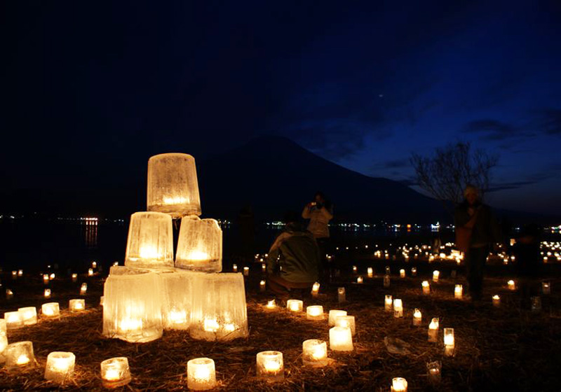 Lake Yamanaka ice candles 2