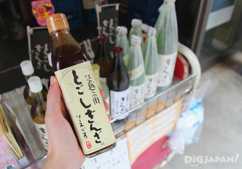 店面還有清酒和調味料醬汁,以及戸越銀座的原創紀念品。