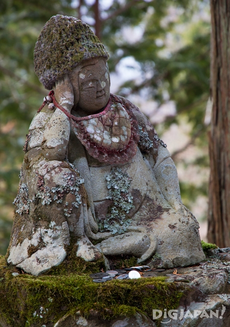 Look at the moss and lichens on this Buddha statue