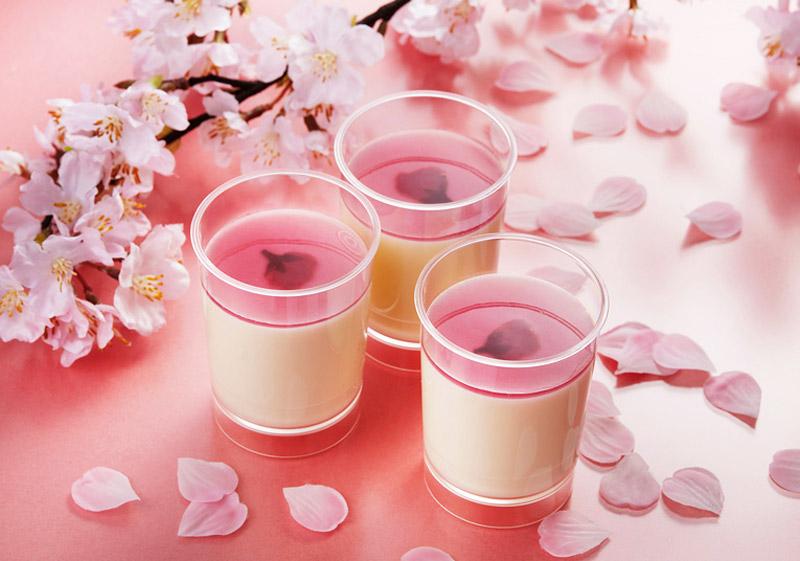 溶化的起司布丁櫻花
