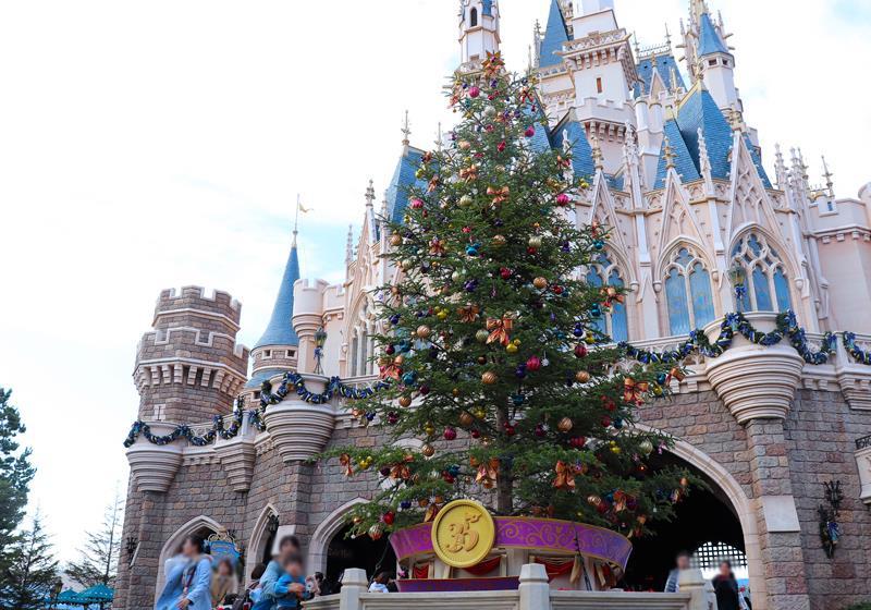 掛上35週年紀念標誌的聖誕樹,為今年的聖誕增添色彩。