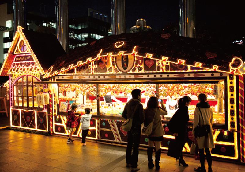 ドイツ・クリスマスマーケット大阪のヒュッテ
