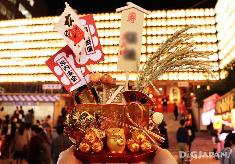 新宿花園神社5000日元的熊手