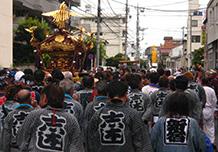 ต้นเดือนกันยายน: เทศกาลประจำศาลเจ้าชิบะมาตะโคะโรคุเท็น