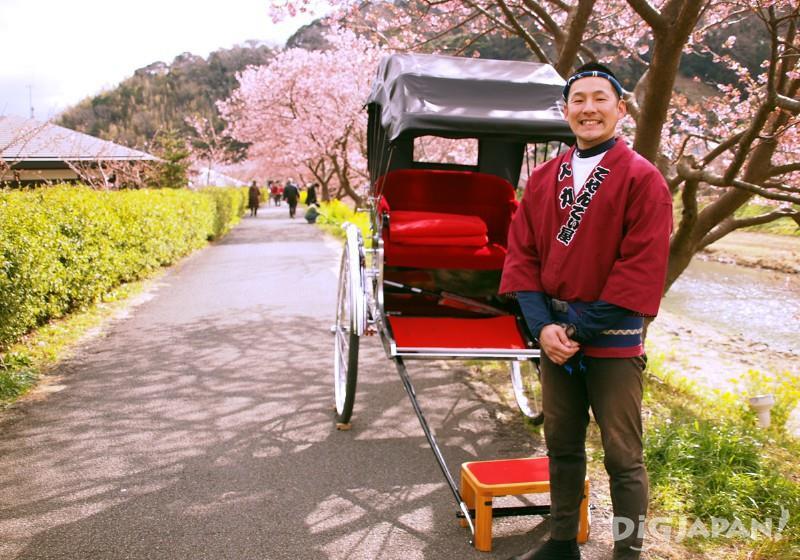 นั่งโยกเยกบนรถคนลากไปพลาง ชมวิวดอกไม้เจ๋งๆไปพลาง