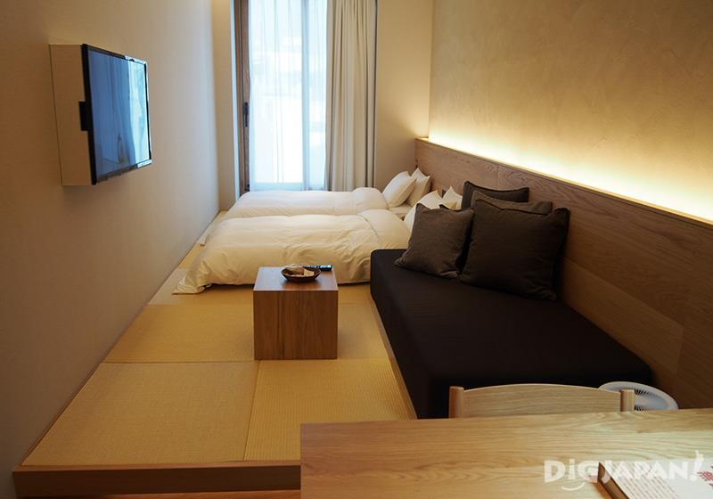 最多可供3人入住的疊疊米客房