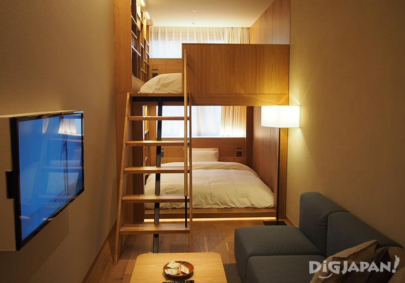 The bunk bed room MUJI HOTEL GINZA