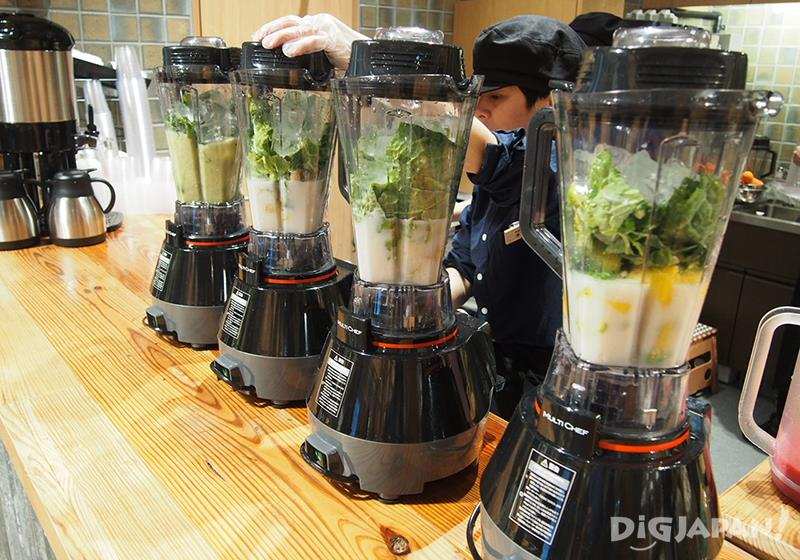 MUJI juice stand at Muji Ginza