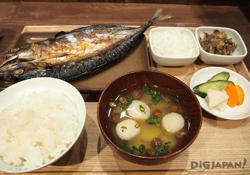 Muji Diner fish set