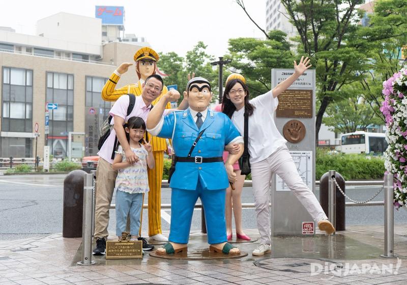 Kochikame statues, Kameari, Katsushika