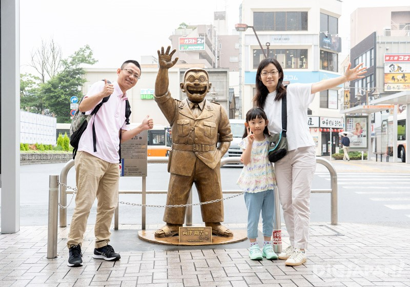 Kochikame Ryo-san statue, Kameari, Katsushika