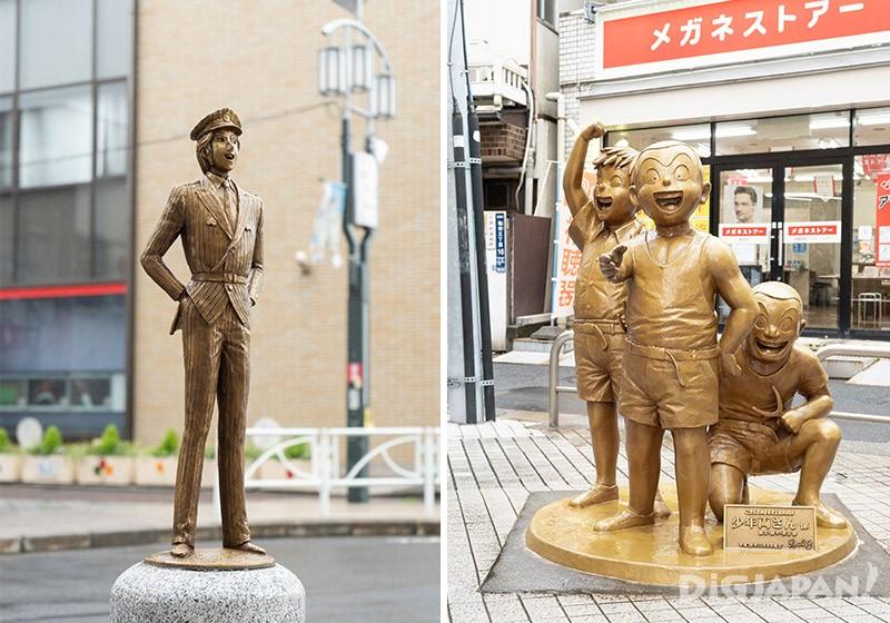 《烏龍派出所》其他角色的銅像