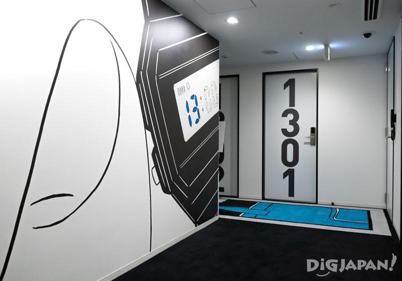 HOTEL TAVINOS濱松町的漫畫風走廊02
