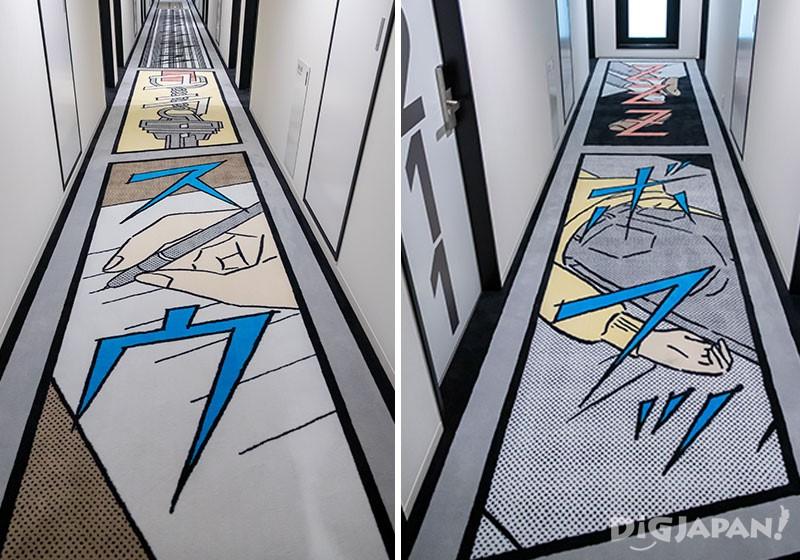走廊地毯上的漫畫塗鴉01