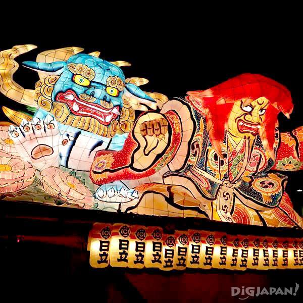 ชมโคมไฟเนบุตะขนาดยักษ์อย่างใกล้ชิดที่เทศกาลคาซามะมัตสึริ!
