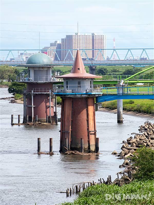 金町浄水場取水塔
