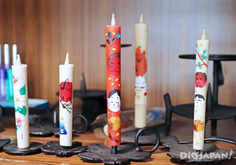 松井本和蠟燭手繪蠟燭01