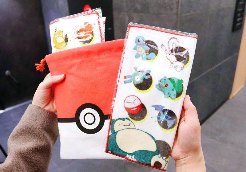 寶可夢原創設計束口袋及兩條小毛巾
