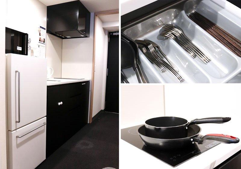 每個房間都備有廚房及用餐區