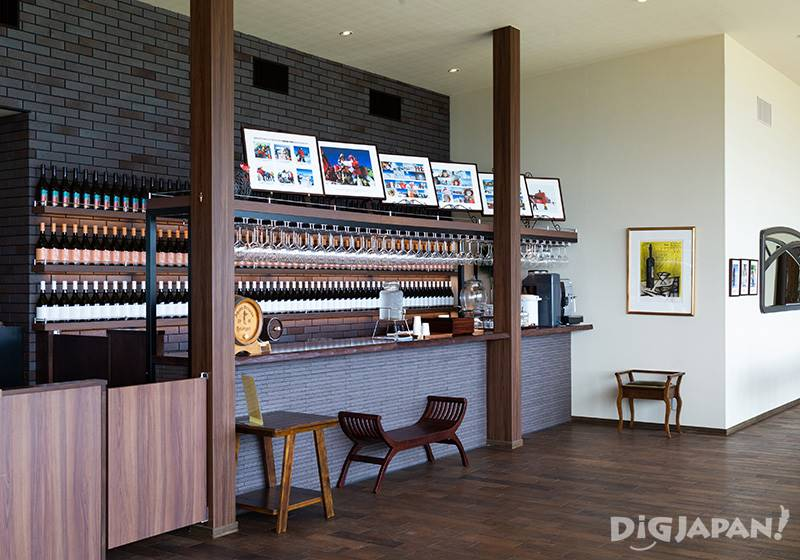 The stylish tasting corner