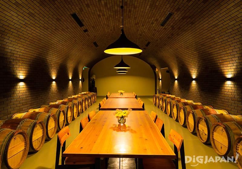 Restaurant inside the underground tunnels