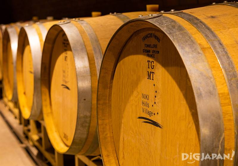 The Big Dipper logo is also featured on the wine barrels.
