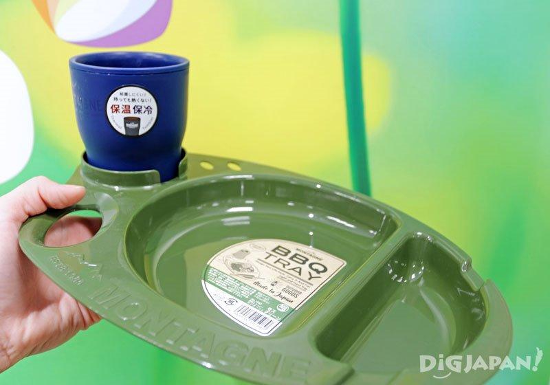 BBQ迷彩綠Montagne托盤&保溫保冷隨行杯
