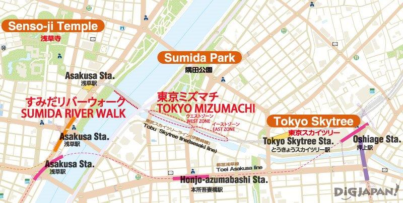 Tokyo Mizumachi map